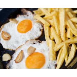 2 huevos fritos y patatas
